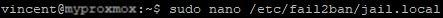 proxmox_modif_config_fail2ban