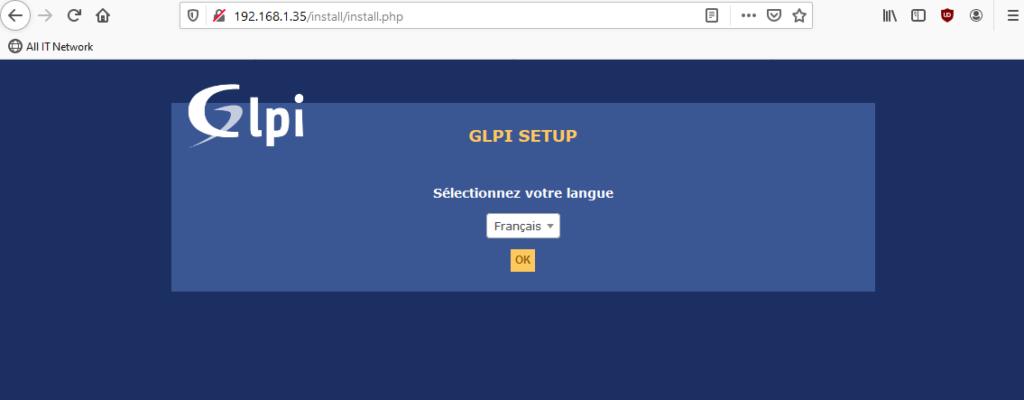 GLPI interface web