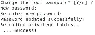 Nouveau mot de passe root