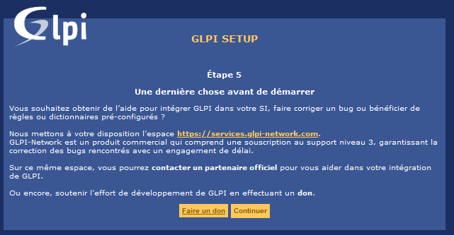 GLPI interface WEB - Don GLPI