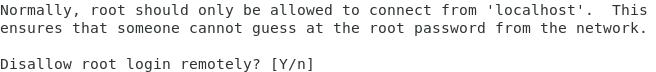 Supprimer l'accès root à la bdd