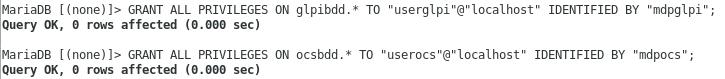Création utilisateur BDD